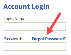Login screen with Forgot Password